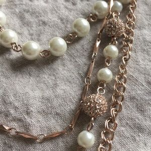 """Charter Club 28"""" rose gold color pearly necklace"""